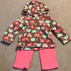 Carters fleece outfit 12months